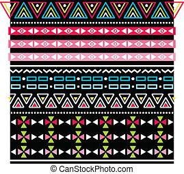 model, van een stam, seamless, aztec