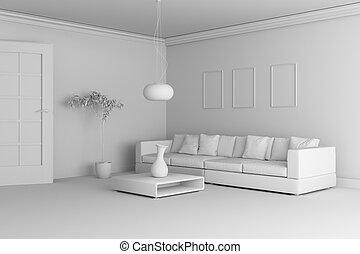Interieur vertolking model klei garage image garage klei
