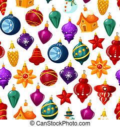 model, vector, kerst decoraties, seamless