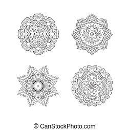 model, vector, set, circulaire