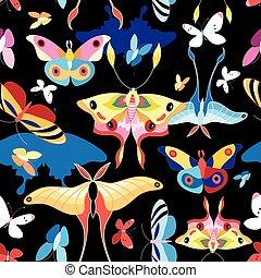 model, veelkleurig, vlinder