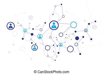 model, verbinding, menselijk