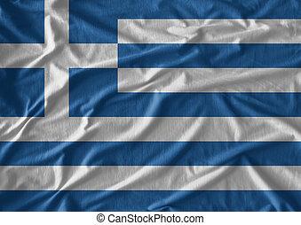 model, vlag, weefsel, textuur, griekenland