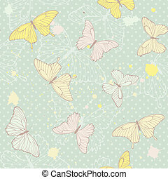 model, vlinder, delicaat, seamless