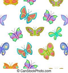 model, vlinder, spotprent, stijl