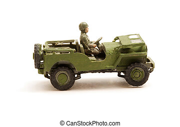 Model Wartime Jeep - Scale Model toy Jeep