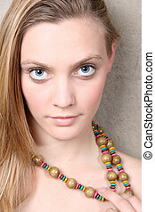 Model with beads