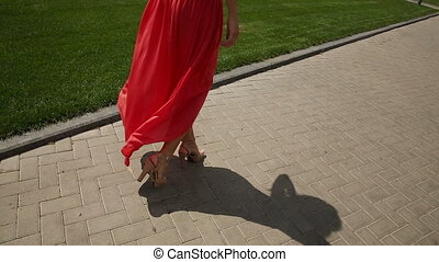 Model Woman in Red