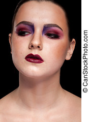 Model woman with artistic professional make up