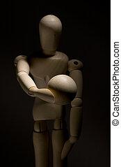 Modeling Wooden Dummy Holding Ball