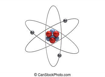 modell, av, a, lithium, atom
