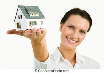 modell, hus