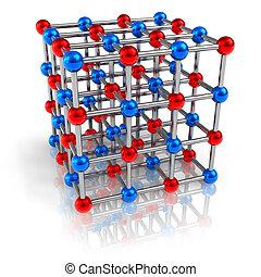 modell, molekulare struktur