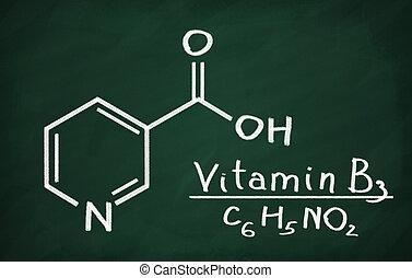 modell, (niacin), strukturell, vitamin b3
