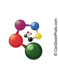 modell, spirale, atom