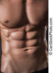 modell, starke , muscled, arme, mann