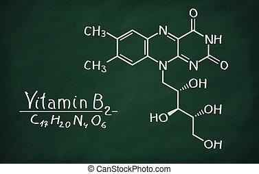 modell, strukturell, vitamin b2, (riboflavin)