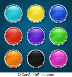 modellato, app., rotondo, icone