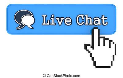 modellato, bottone, mano, cursore, vivo ciarla, topo