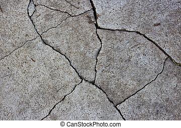 modellato, concrete., crepa