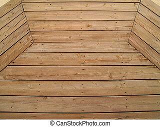 modellato, legno, alterato, ponte