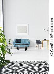 modellato, pianta, tappeto