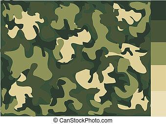 modelleer ontwerp, camouflage