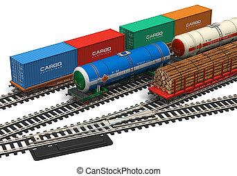 modellen, miniatuur, spoorweg