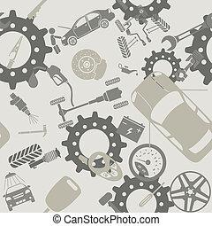 modelli, servizio automobile, seamless