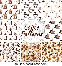 modelli, tazze caffè, seamless