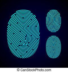 modelli, tipi, impronta digitale