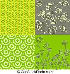 modelli, verde, grigio