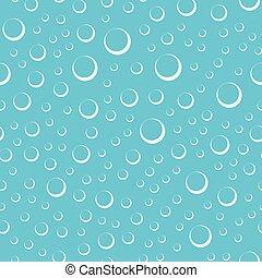 modello acqua, bolle, seamless, aria