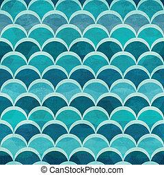modello acqua, cerchio, seamless