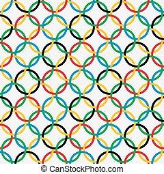 modello, anelli, seamless, colorito