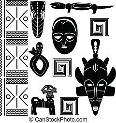 modello, antico, africano