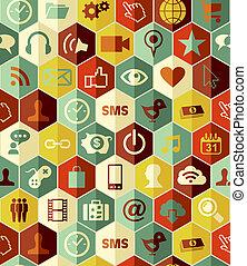 modello, app, seamless, icone