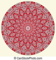 modello, arabo, circolare