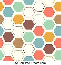 modello, astratto, esagonale, colorito, seamless