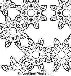 modello, astratto, fiore, seamless, fondo