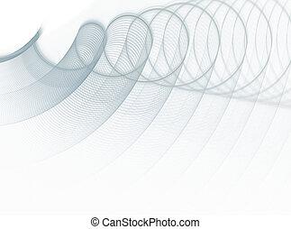modello, astratto, fractal, sfondo bianco