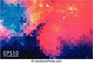 modello, astratto, geometrico, colorito, fondo.