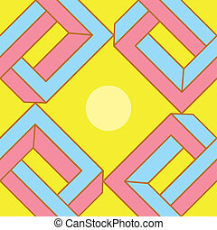 modello, astratto, illusione ottica, seamless