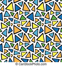 modello, astratto, seamless, triangoli