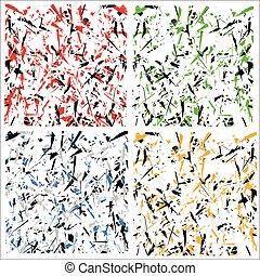 modello, astratto, sparso, multicolor, struttura, affilato, forme, colors), /, (unreal