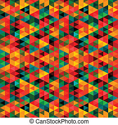 modello, astratto, triangolo, pixel