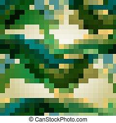 modello, astratto, verde, seamless, onde