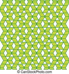 modello, astratto, vettore, verde, geometrico