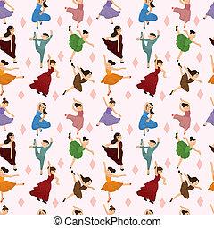 modello, ballerino balletto, seamless