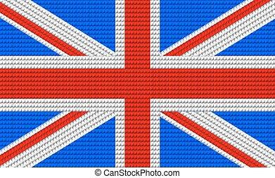 modello, bandiera, disegno, regno unito, ricamo